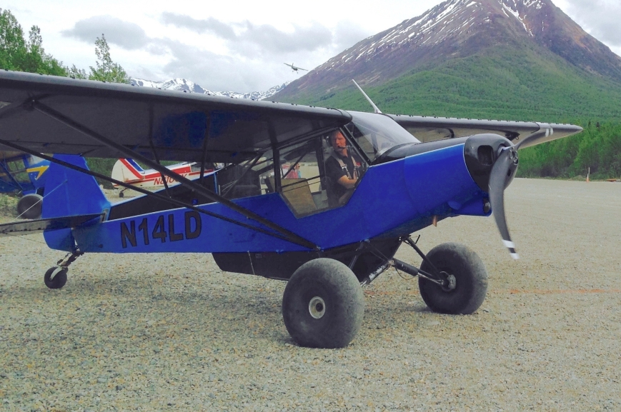 10 - Lyle Wilder in his supercub at the Sourdough Fly-In.