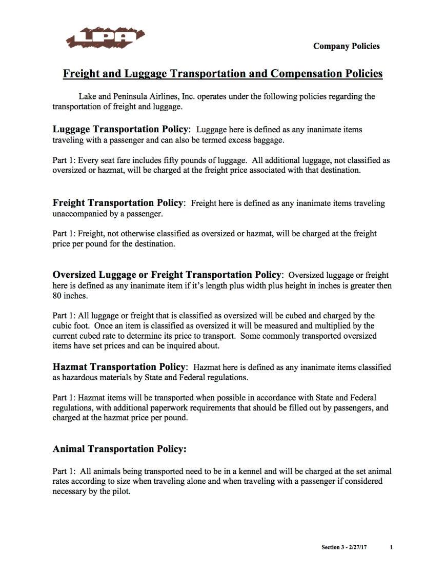 freight-and-luggage-transportation-policies-lpa